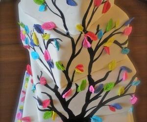 cake, sweet, and tree image