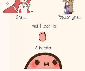 potato, girl, and kawaii image