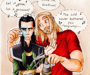 thor, loki, and frozen image