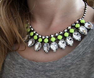 fashion, necklace, and neon image