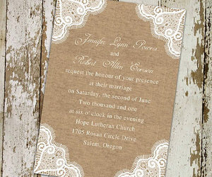 burlap, lace, and tree image