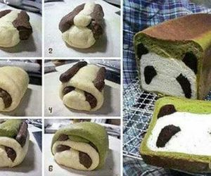 panda, cake, and bread image