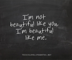 beautiful, quote, and me image