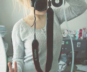 blond, girl, and canon image