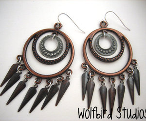 copper, hoops, and Dangle image