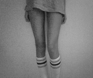 legs, skinny, and socks image