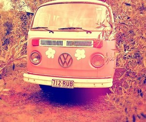 van, hipster, and pink image