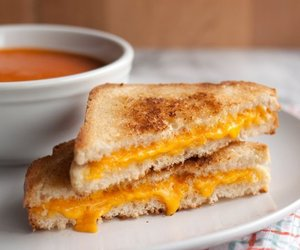 cheese, grilled cheese, and sandwich image