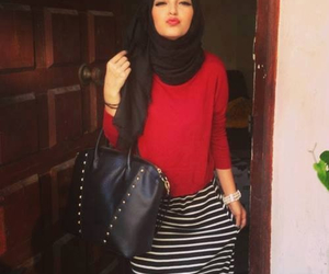 hijab, red, and islam image