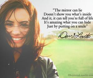 demi lovato, quote, and smile image