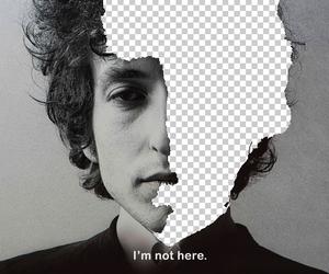 bob dylan, sad, and black and white image