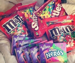 nerds, skittles, and sweets image