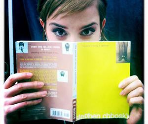 emma watson, book, and the perks of being a wallflower image