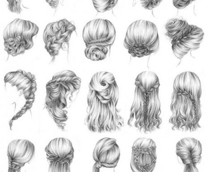 drawings, hair, and pretty image