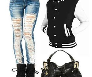 black, outfits, and girl image