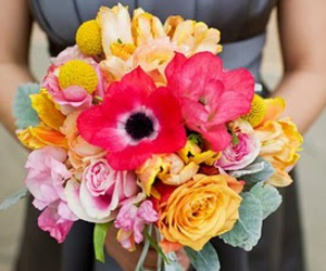 bouquet, bridesmaid, and flowers image