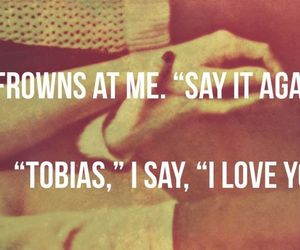 divergent, tobias, and love image