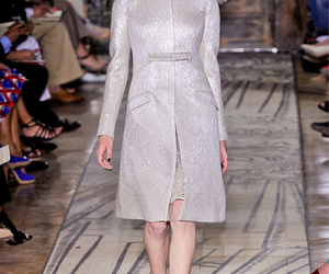 long sleeve, silver, and valentino couture image