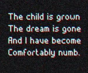 quotes, NUMB, and Pink Floyd image
