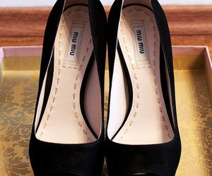 black, miu miu, and shoes image