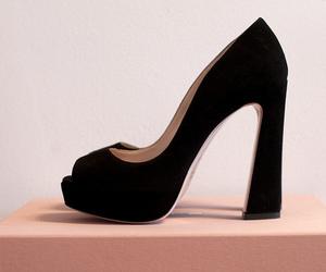 heels, miu miu, and shoes image