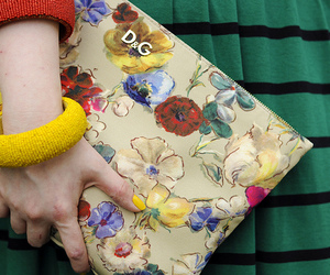 clutch, floral, and orange image