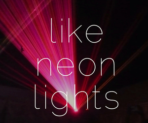 neon lights, demi lovato, and light image