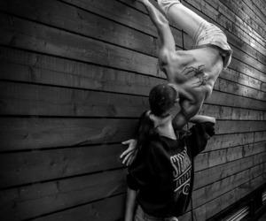 kiss, couple, and parkour image