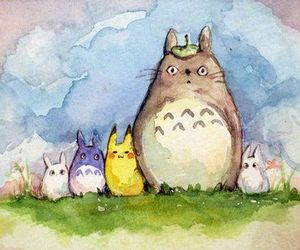 totoro and draw image