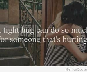 hug, hurt, and quote image