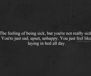 sad, quote, and sick image