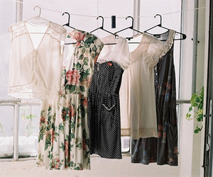 dress, vintage, and clothes image