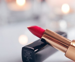 lipstick, red, and chanel image