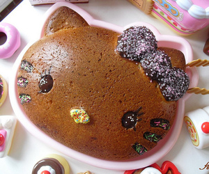 cake, hello kitty, and cute image