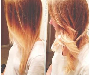 blonde, curly hair, and brunette image