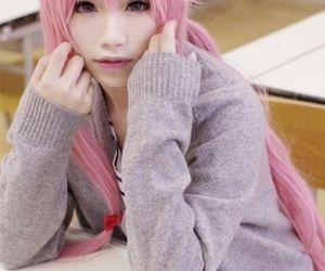 cosplay, mirai nikki, and anime image