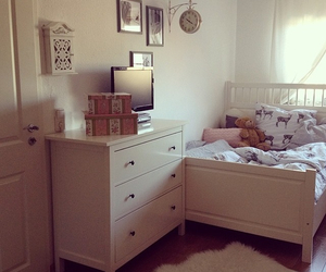 bed, design, and room image