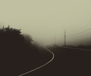 road, photography, and black and white image