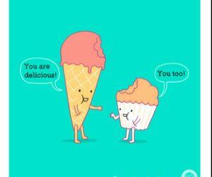 ice cream, cupcake, and delicious image