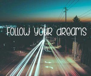 dreams, follow, and night image
