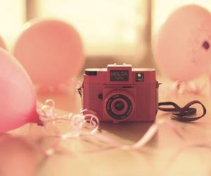 camera, pink, and swet image