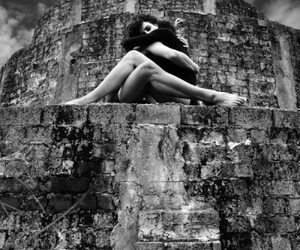 black and white, embrace, and hug image