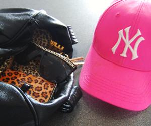 pink, cap, and ny image