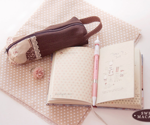 lovely, notebook, and pencil image