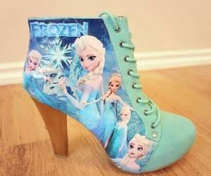 frozen, shoes, and elsa image