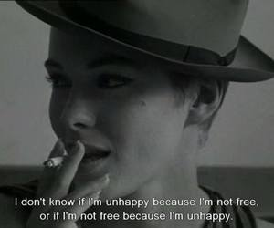 quote, movie, and unhappy image