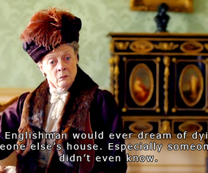 maggie smith, lady violet, and downton abbey image