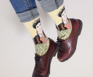 socks, shoes, and frida kahlo image
