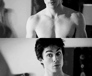 ian somerhalder, shirtless, and tvd image