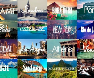 new york, travel the whole world, and paris image